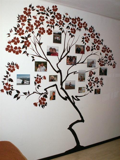 Дерево на стене с фотографиями своими руками пошагово
